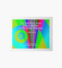 The True Work of Art Art Board Print