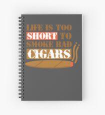 Cuaderno de espiral La vida es demasiado corta para fumar cigarros malos