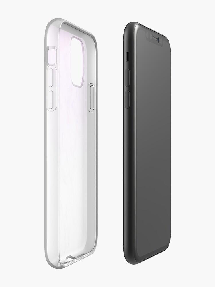 Coque iPhone «Fond d'écran de marbre violet», par warddt