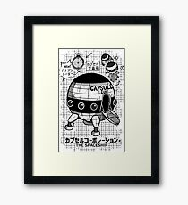 Capsule Spaceship Framed Print