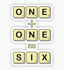 Scrabble Math Sticker