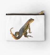 Yellow and Brown Lizard Studio Pouch