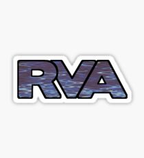 RVA Logo in Blue Ripple Sticker