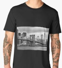 new york city - brooklin bridge Men's Premium T-Shirt