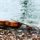 Cello on the Side of the Lake  by ArtbyDigman