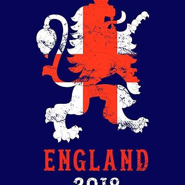 England 2018 - UK Soccer Team Shirt - Vintage by crouchingpixel