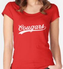 Cougars Script Women's Fitted Scoop T-Shirt