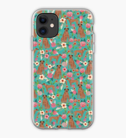 Rhodesian Ridgeback floral dog breed gifts pure breed must have dog pattern iPhone Case