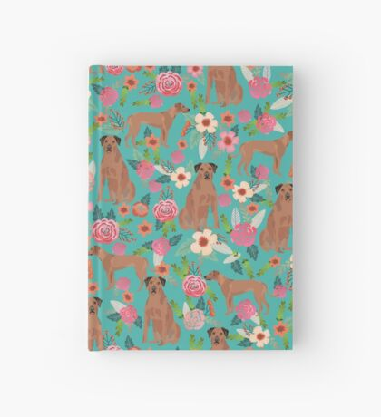 Rhodesian Ridgeback floral dog breed gifts pure breed must have dog pattern Hardcover Journal