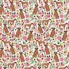 Rhodesian Ridgeback floral dog breed gifts pure breed must have dog pattern by PetFriendly
