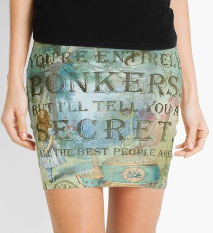 Wonderland - Bonkers Quote Minifalda