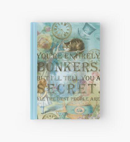 Wonderland - Bonkers Quote Cuaderno de tapa dura