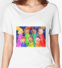 Happy Kids Painting Women's Relaxed Fit T-Shirt