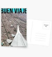 Buen Viaje - View from an airplane over Mexico City Postcards
