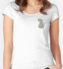 Floral rat garden Women's Fitted Scoop T-Shirt