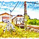 Old Train On The Dead Platform by Giuseppe Cocco