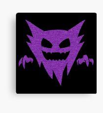 Pokemon - GHOST Type - Purple Canvas Print