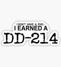 I earned my DD-214 Sticker