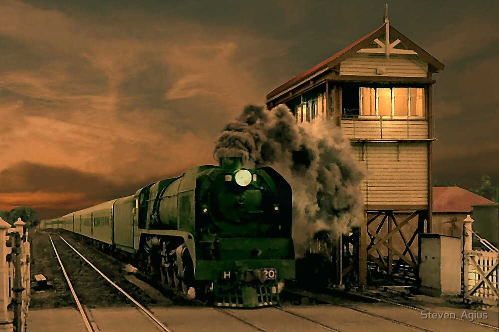 Sunset Express by Steven  Agius
