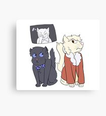 The Three Doctor Cats Canvas Print