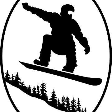 Snowboarding Emblem by thelanajackson