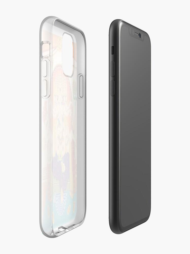 Ganesh White Halftone iphone case