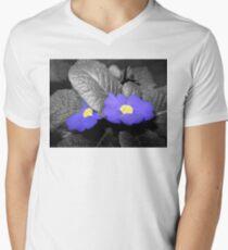 two indigo primroses 03/09/18 V-Neck T-Shirt