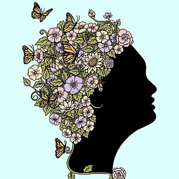 Floral Lady by coffeeman