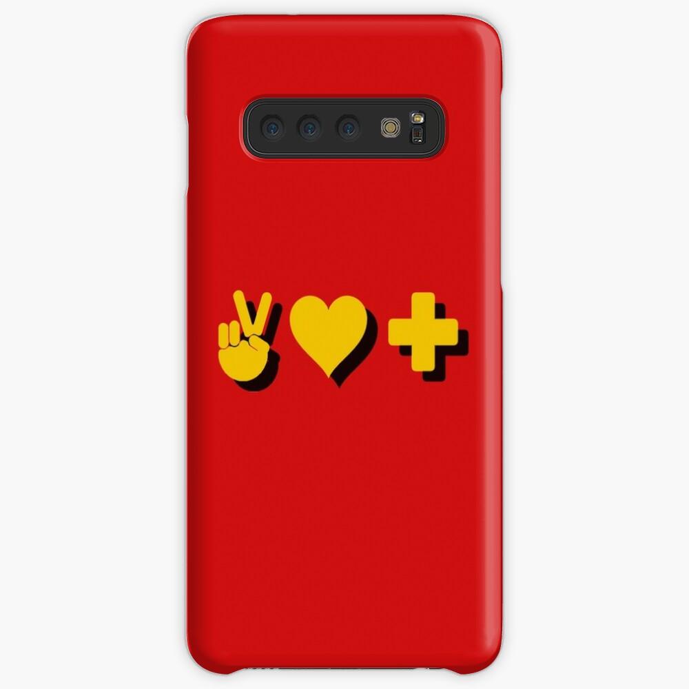 Paz, Amor y Positividad - Cita Lógica Funda y vinilo para Samsung Galaxy
