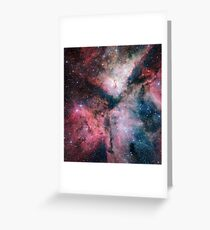 The Carina Nebula Astrophotography Space Art Greeting Card