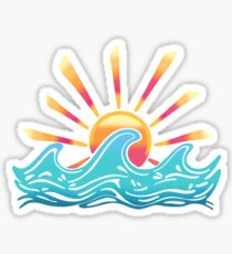 Sunrise Surf Sticker