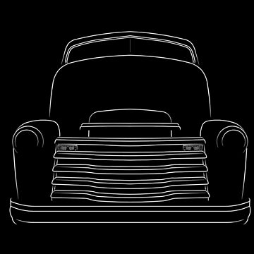 Chevy Loadmaster Cab Over Engine (COE) - front stencil, white by mal-photography