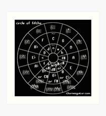 Circle of Fifths Art Print