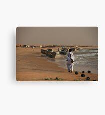 Mauritanian Fisherman Canvas Print
