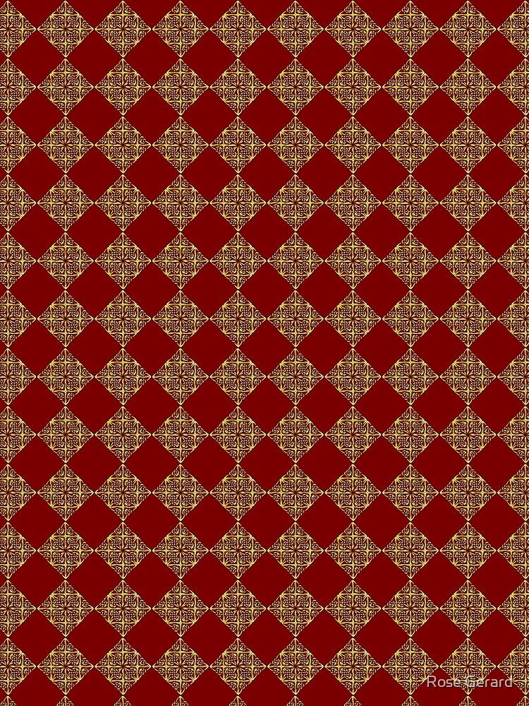 Red & Gold Diamonds by arkadyrose