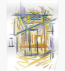 Abstract architecture Poster