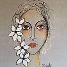 Nur durch die Liebe können wir die Schönheit einer Blume im Schatten der Dunkelheit sehen .... von Art-by-Renate