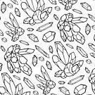 Kristallillustrations-Linie Art Pattern von Diane LeonardArt