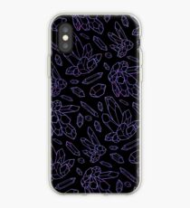 Amethyst Kristalle iPhone-Hülle & Cover