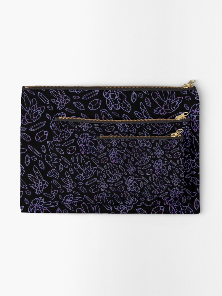 Alternate view of Amethyst Crystals Zipper Pouch