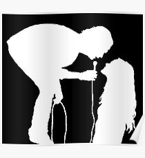 Robbers Silhouette (white) Poster
