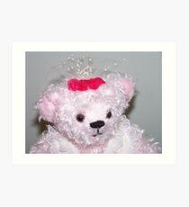 Bridal Bear Art Print