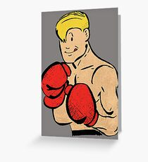 Brief Boxer (colourised) Greeting Card