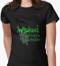 Once Upon A Time - Wicked Always Wins Women's Fitted T-Shirt