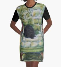 Natasha in the Chartreuse Chair Graphic T-Shirt Dress