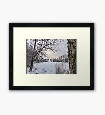 Frozen Pond Framed Print