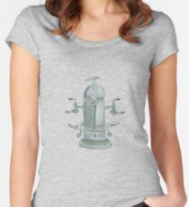 Time for Coffee! Vintage espresso machine to get your day started Women's Fitted Scoop T-Shirt