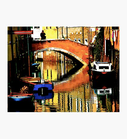 VENICE-LIVING ON A MIRROR Photographic Print