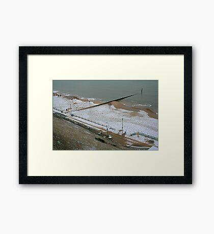 Snow on the Beach Framed Print