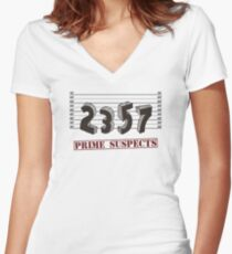 The Prime Number Suspects Women's Fitted V-Neck T-Shirt